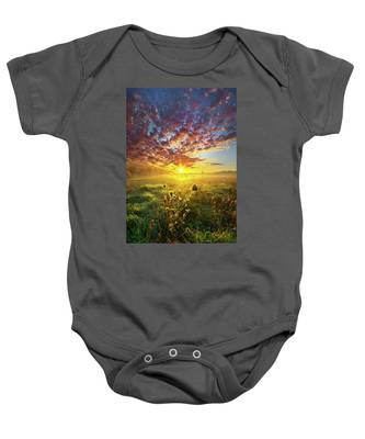 It Begins With A Word Baby Onesie