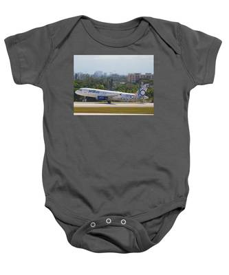 Baby Onesie featuring the photograph Jet Blue Blues Brothers by Dart and Suze Humeston