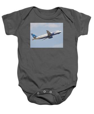 Baby Onesie featuring the photograph Jet Blue by Dart and Suze Humeston