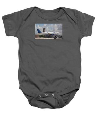 Baby Onesie featuring the photograph Jetblue Fll by Dart and Suze Humeston