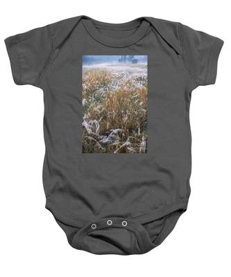 Kans Grass In Mist Baby Onesie