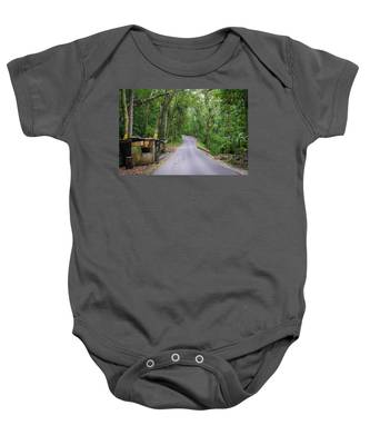 Lonely Country Road Baby Onesie