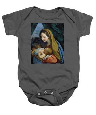 Madonna And Child Baby Onesie