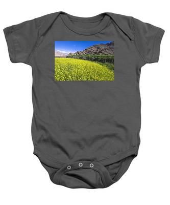 Mustard Field, Hemis, 2007 Baby Onesie