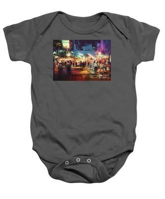 Night Market Baby Onesie