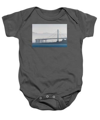 Oakland Bay Bridge Baby Onesie
