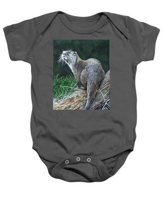 Otter On Branch Baby Onesie