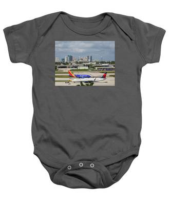 Baby Onesie featuring the photograph Planes By Fort Lauderdale by Dart Humeston