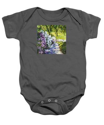 Purple White Baby Onesie