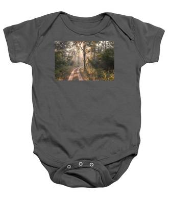 Rays Through Jungle Baby Onesie