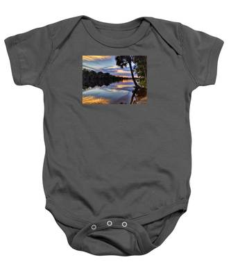 Red Tranquility  Baby Onesie