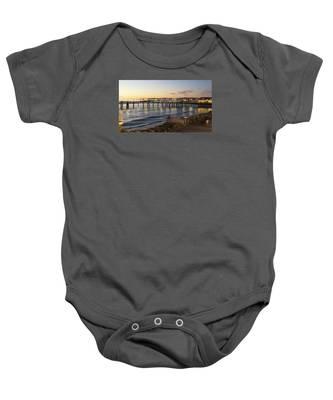 Redondo Pier At Sunset Baby Onesie