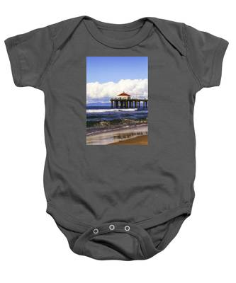 Reflections On The Pier Baby Onesie