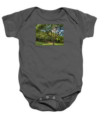 Relaxing Under The Tree Baby Onesie