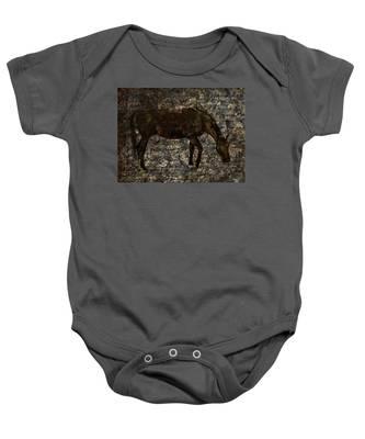 Roan Stallion Baby Onesie
