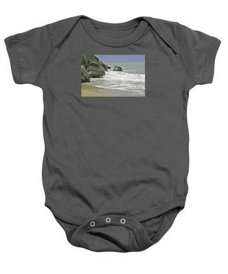 Rocks, Sand And Surf Baby Onesie