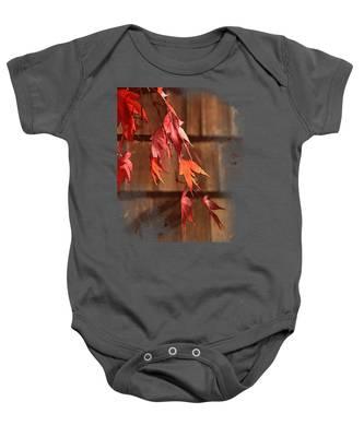 Scarlet Cascade Baby Onesie