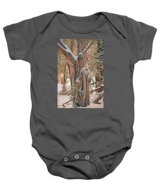 Snowy Dead Tree Baby Onesie