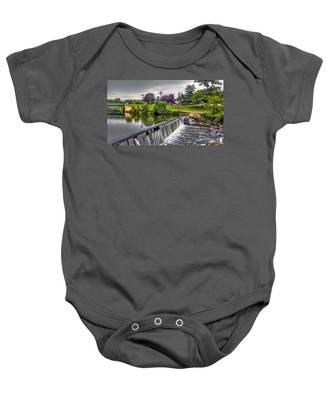 Spillway At Grace Lord Park, Boonton Nj Baby Onesie