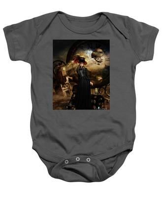 Steampunk Time Traveler Baby Onesie