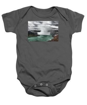 Storm At Niagara Baby Onesie