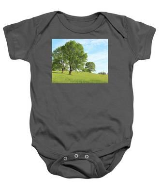 Summer Trees Baby Onesie