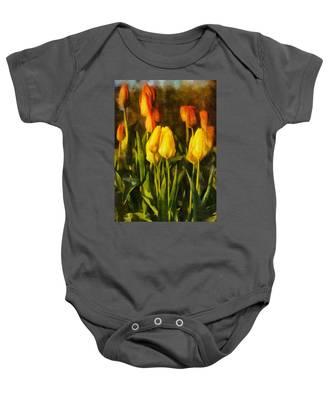 Sunny Tulips Baby Onesie