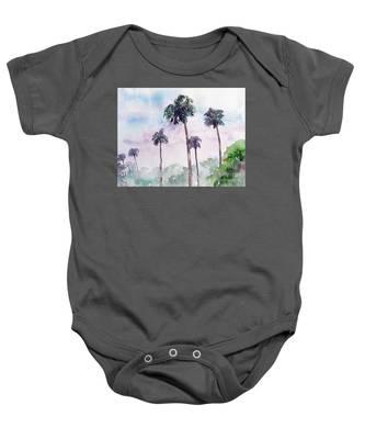 Swaying Palms Baby Onesie
