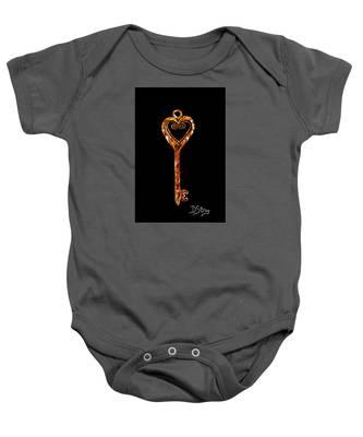 The Golden Key Baby Onesie