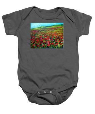 The Poppy Fields Baby Onesie