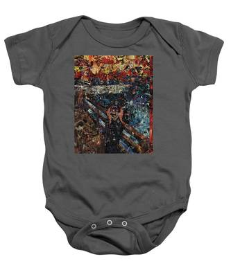 The Scream After Edvard Munch Baby Onesie
