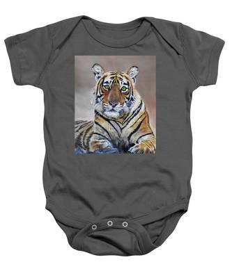 Tiger Portrait Baby Onesie