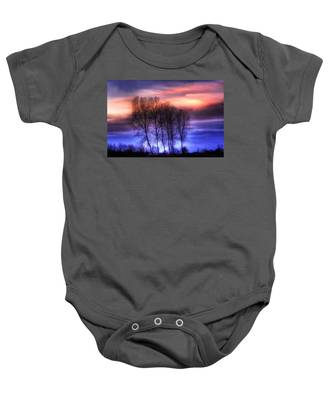 Trees And Twilight Baby Onesie