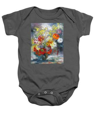 Tulips, Narcissus And Forsythia Baby Onesie