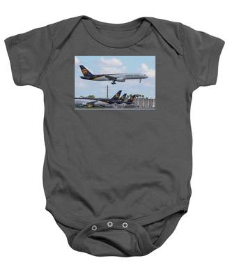 Baby Onesie featuring the photograph Ups Over Ups by Dart and Suze Humeston