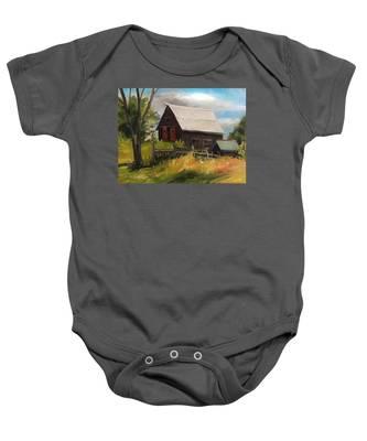 Vermont Barn Baby Onesie