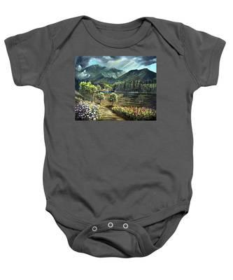 Vista View Of Cannon Mountain Baby Onesie