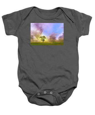 Waiting For The Storm Baby Onesie