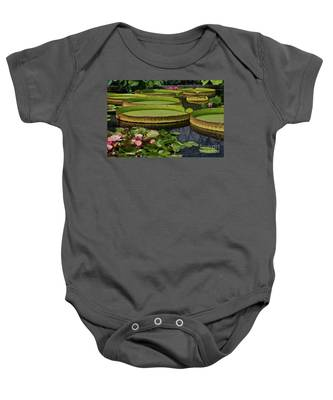Waterlilies North And South Baby Onesie