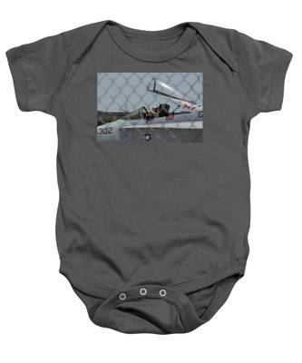 Baby Onesie featuring the photograph Wave by Dart and Suze Humeston
