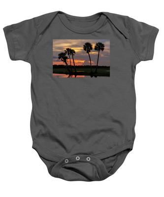 Wetlands Sunset Baby Onesie