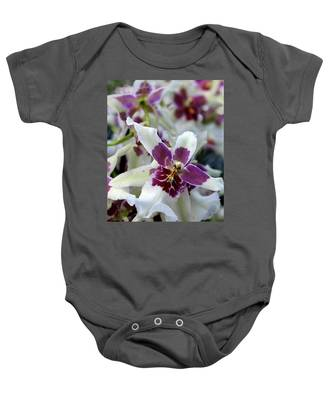 Purple And White Orchid Baby Onesie
