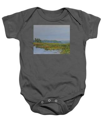 Woodland Lake Baby Onesie