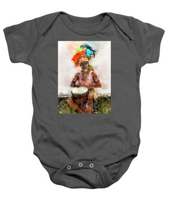 Antiguan Drummer Baby Onesie