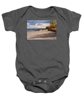 Beach Storm Baby Onesie