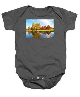 Boise Fall Foliage Baby Onesie by Dart and Suze Humeston
