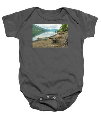 Canoe At Mable Lake Baby Onesie