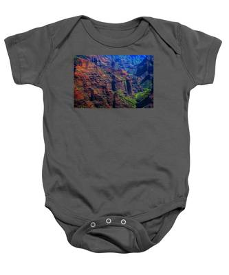 Colorful Mountains Of Kauai Baby Onesie