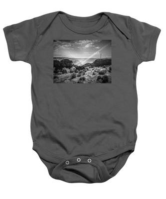 Eagle Rock, Grand Canyon In Black And White Baby Onesie