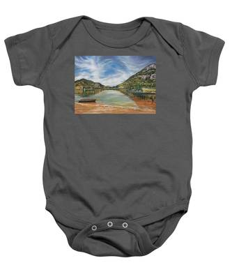 Echo Lake In Franconia Notch New Hampshire Baby Onesie